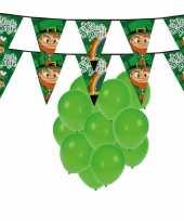 St patricks day feestartikelen met ballonnen en slingers feestje