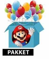 Super mario kinderfeest pakket feestje