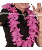 Thema feest hawaii krans roze feestje