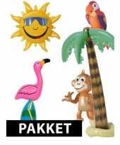 Tropische themafeest pakket met opblaasdecoratie feestje