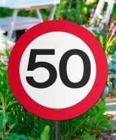 Tuinborden versiering 50 jaar feest thema 44 cm feestje