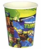 Turtles themafeest drinkbekertjes feestje