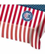 Usa amerikaanse feest thema thema tafelkleed 130 x 180 cm feestje