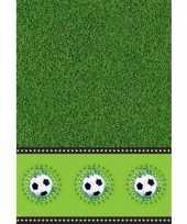 Voetbal feest tafelkleed 130 x 180 cm feestje