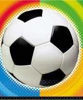 Voetbal feestje servetten 25 cm 10192234
