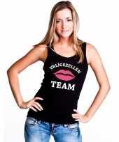 Vrijgezellenfeest team singlet-shirt tanktop zwart dames feestje